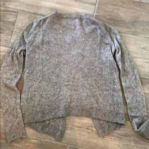 Crewcuts Shirts & Tops - Crewcuts Girls Gray Gem Cardigan Sweater Size 8